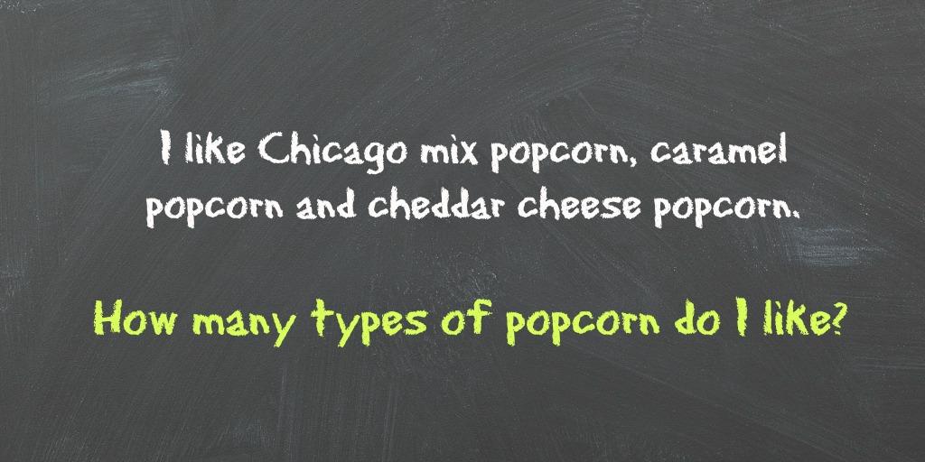 serial comma popcorn