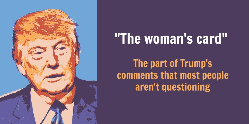trump woman's card