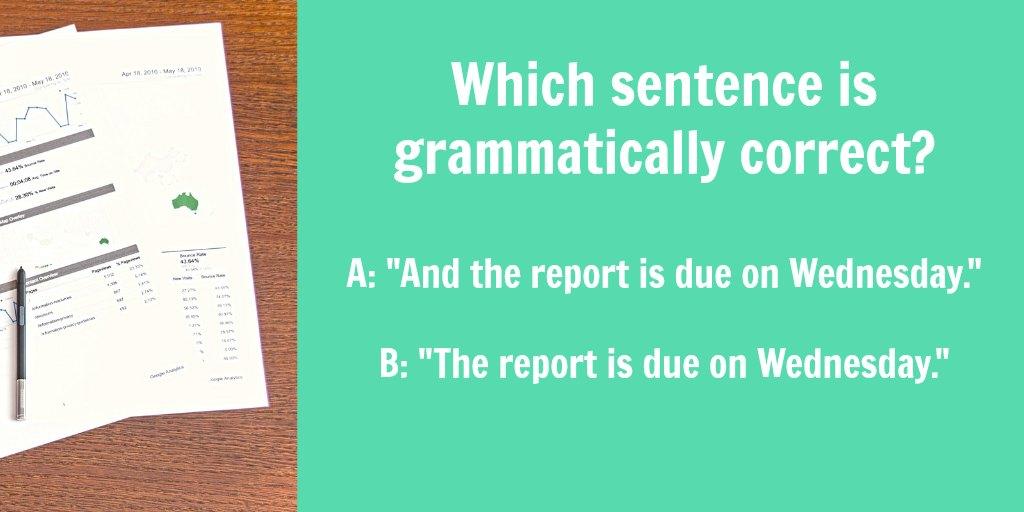 conjunctions start sentence